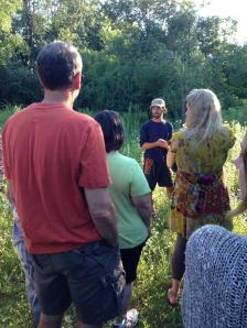 The July Oakland County Permaculture Meetup was our second anniversary so it was hosted at my place—where it all started. I gave a nice tour.